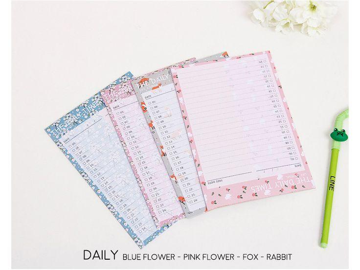 Jual The Daily Times Scheduler Notepad / Buku Catatan / Buku Tulis - pinkabulous | Tokopedia