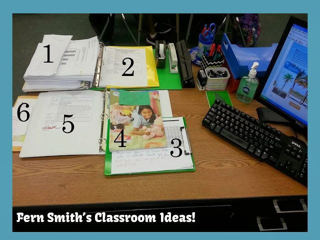 Organization ~ Leaving Your Desk Ready for a Substitute Teacher When You Know You Will Be Absent. #TeachersFollowTeachers #FernSmithsClassroomIdeas