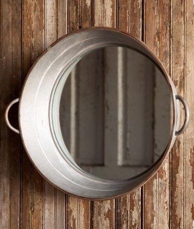 Wash Tub Mirror Farmhouse Bathroom Decor - Fixer Upper Style - ET Tobey & Company