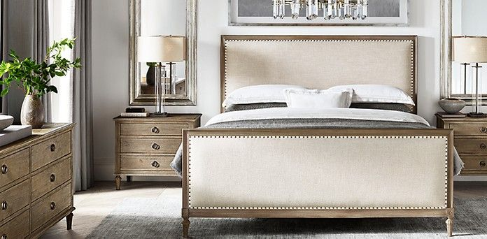 rh's maison bedroom collection  antiqued grey  master
