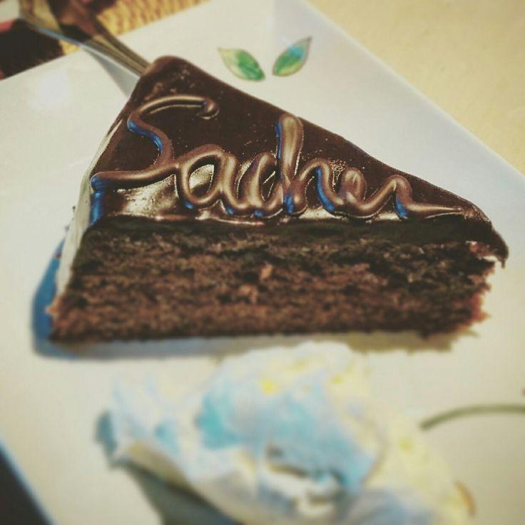 Torta Sacher. Sacher torre. Cake