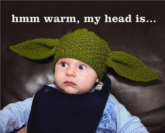 Yoda, this baby aspires to be.