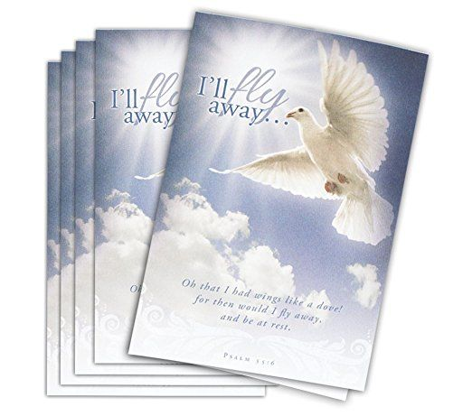 "Funeral Program Paper ""Fly Away"" Package of 25 With FREE Funeral Program Template"