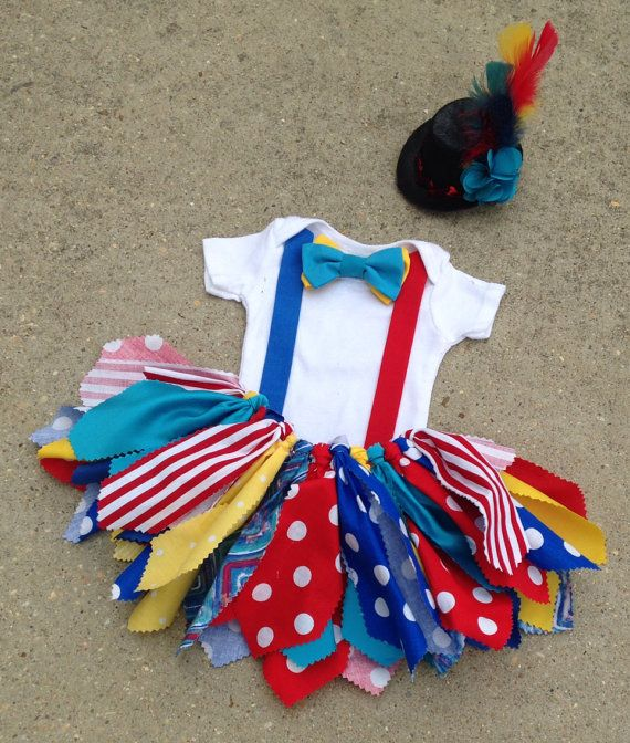 Circus outfit Clown Outfit ringmaster tutu shabby by LilNicks, $37.49