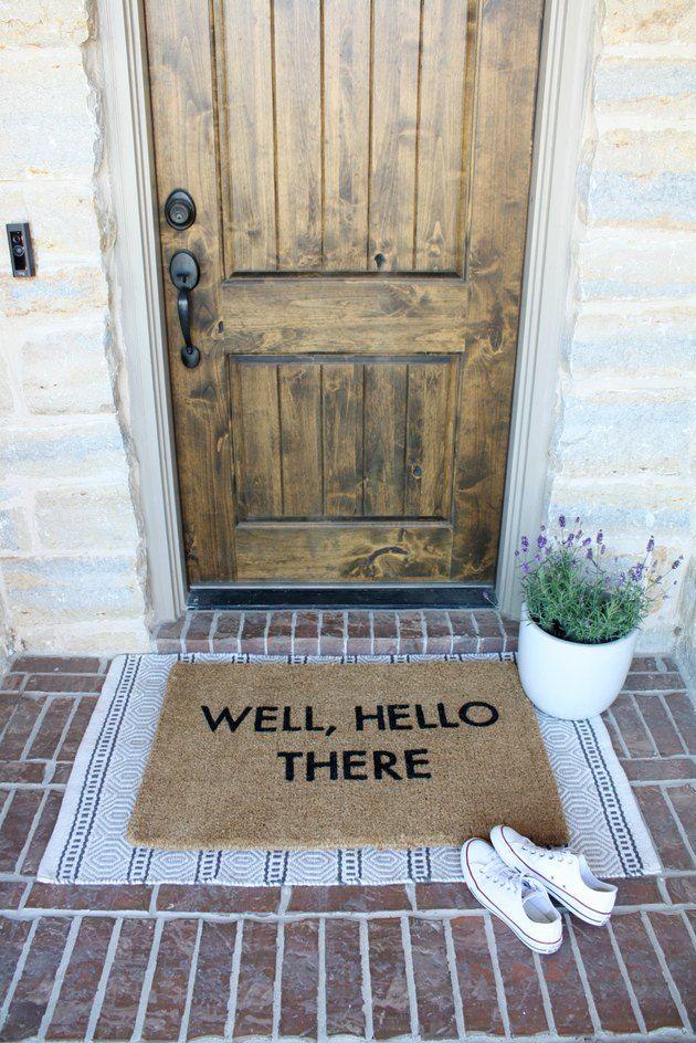 Layered Doormats Are The Hottest Trend To Hit Your Front Door Hunker Door Mat Apartment Front Doors Front Door Rugs