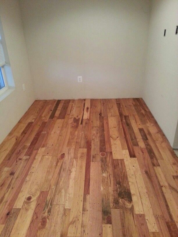 Our Pallet Wood Floor