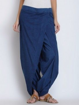 Indigo Cotton Dhoti Pants