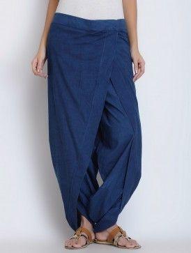 Indigo Cotton Dhoti Pants