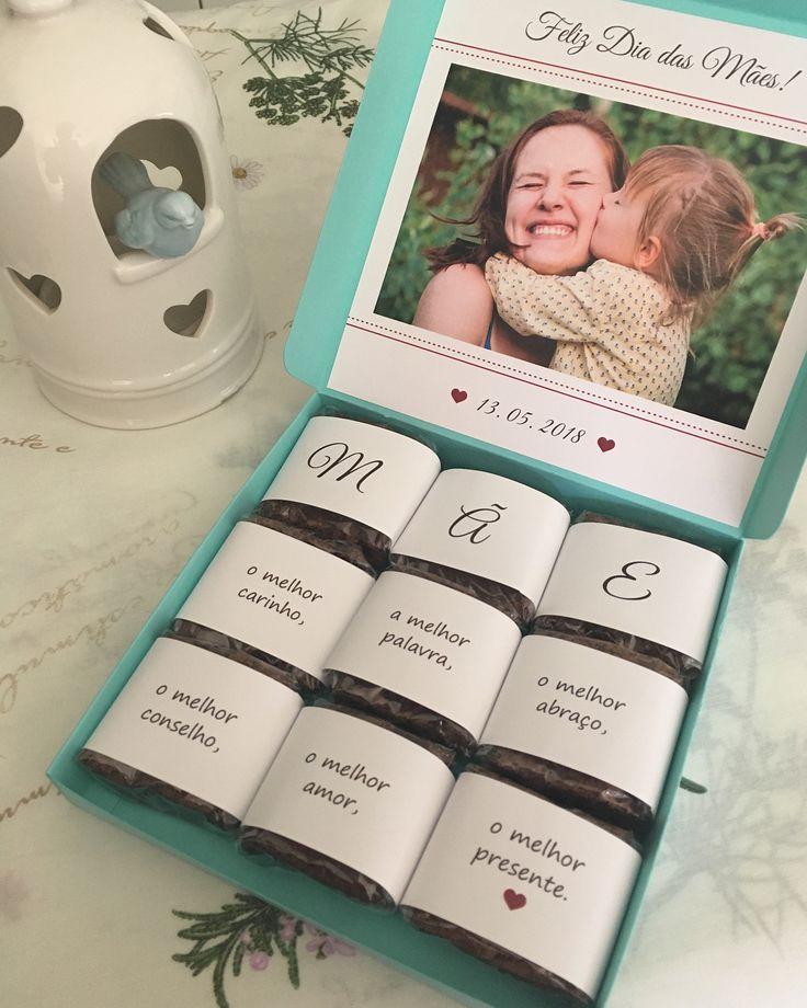 Lembrancinhas para o Dia das Mães: 50 ideias + tutoriais incríveis | Presente para mãe aniversário, Ideias para o dia das mães, Ideias de presente para a mãe