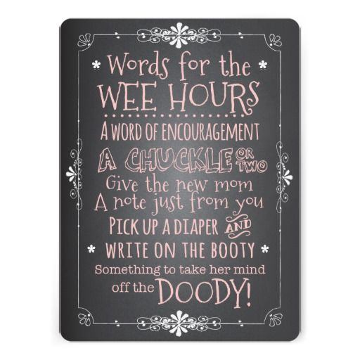 Chalkboard Baby Shower Activity Card~ A fun activity for a baby shower - display this card along with a stack of diapers and markers for guests to write a message to the Mom-to-be.