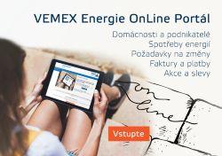 K čemu slouží VEMEX Energie OnLine Portál?