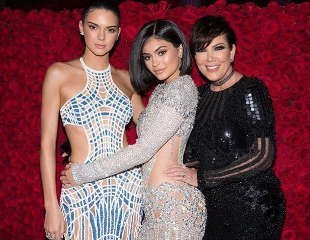 Kendall and Kylie Jenner with their mom Kris Jenner
