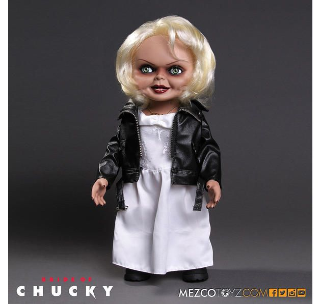 """Bride of Chucky Puppe 15"""" Talking Tiffany. Hier bei www.closeup.de"""
