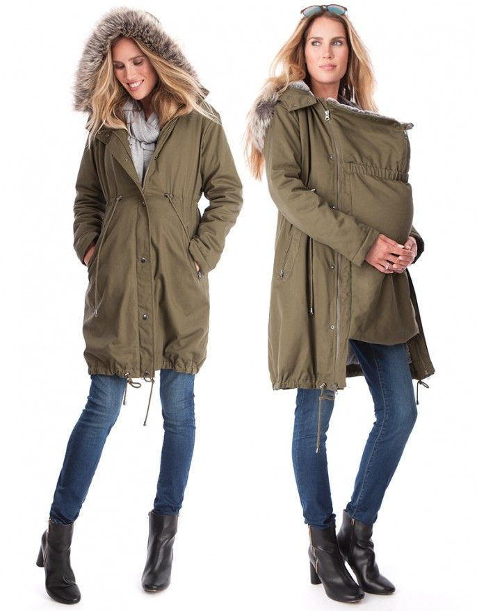 3 in 1 Maternity Parka Side