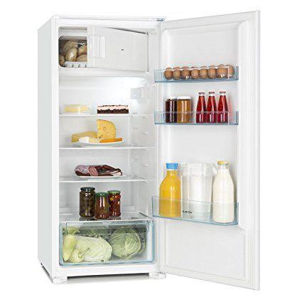 317 A+ Klarstein Coolzone 186 • Kühl- und Gefrierkombination • 171 Liter Kühlschrank • 15 Liter Gefrierfach • 4 Glas-Ablagen • Gemüsefach • 3 Türablagen • geeignet für Einbauschränke • wechselbarer Türanschlag • leichtgängige Scharniere • weiß