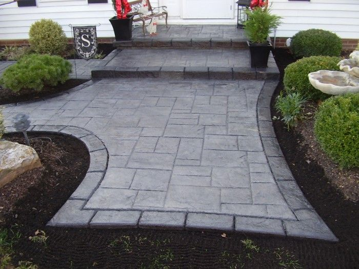 17 best images about stamped concrete driveway on - Stamped concrete walkway ideas ...