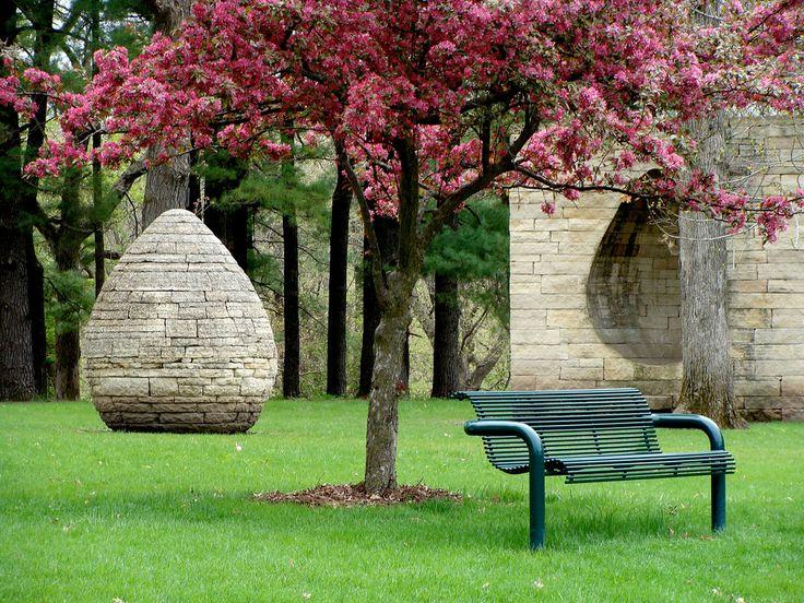 Egg Sculpture In The Rose Garden Behind The Des Moines Art Center In Des  Moines,