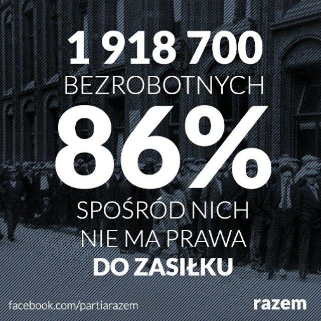 Bezrobotni i zasiłek #bezrobocie #praca #zasiłek #razem #partiarazem #Polska #Poland #lewica
