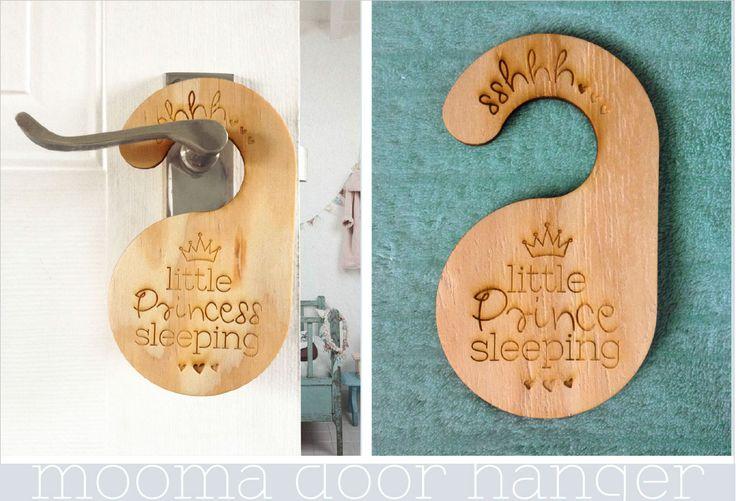 Sshhh... little prince(ess) sleeping. Wooden door hanger to make sure your little prince or princess sleep soft. https://www.facebook.com/MoomaDecor