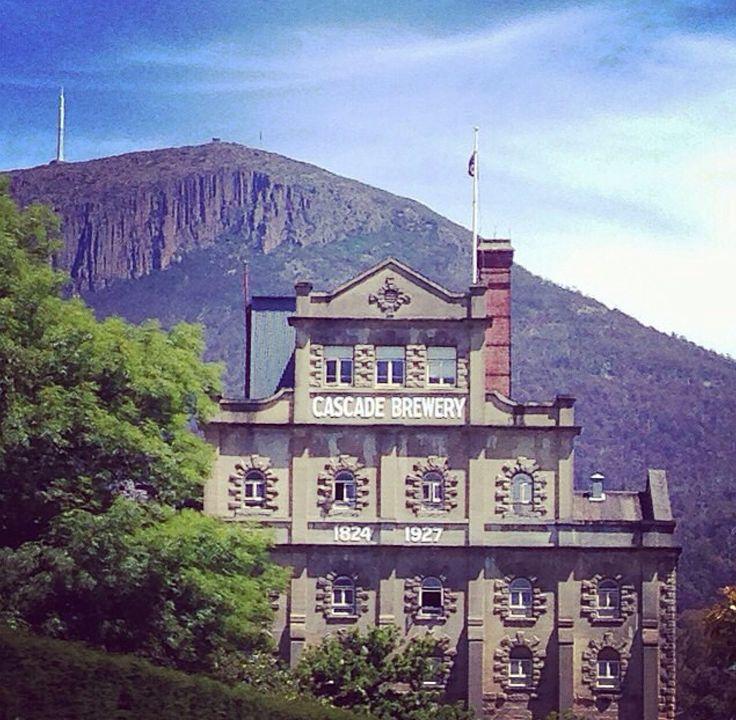 Cascade Brewery on the foot of Mt. Wellington, Tasmania