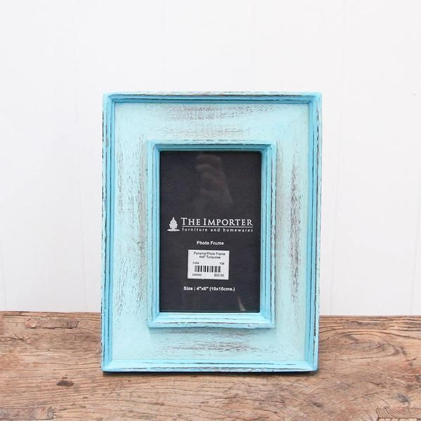 The Importer - Panama Photo Frame Turquoise