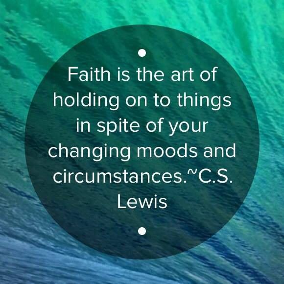 Faith Is Quotes: Faith Is The Art Of Holding Onto Things In Spite Of Your