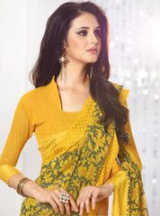 Yellow Color Georgette Daily Wear Sarees : Ahanvi Collection YF-30142