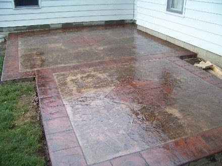 Stamped Concrete Patio Designs | Concrete is the best choice for your patio and outdoor kitchen.