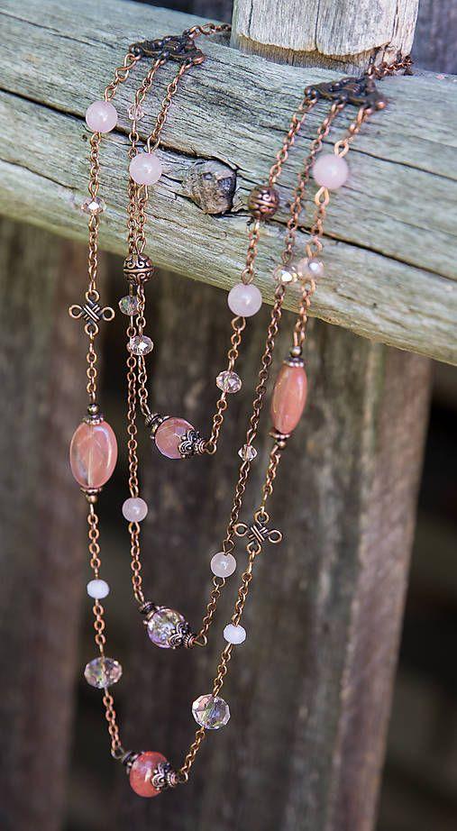 gabi111 / Ružový náhrdelník