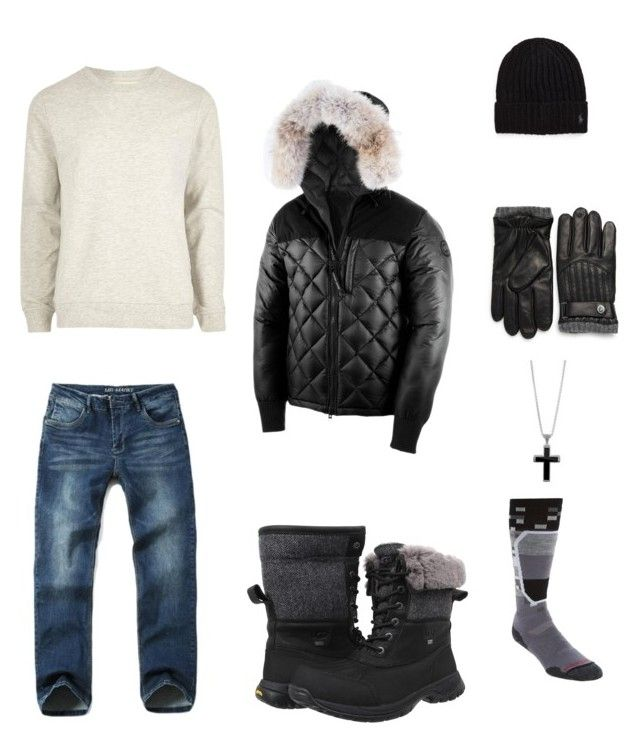 """Winter fit"" by th3kid on Polyvore featuring River Island, Canada Goose, Polo Ralph Lauren, UGG, John Hardy, Smartwool, men's fashion and menswear"