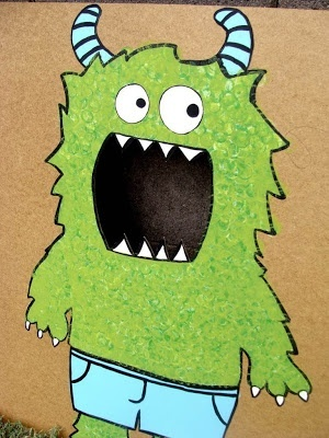 Monster Party Ideas (maybe in a few years) I like this for a photo booth prop