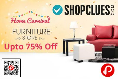 Shopclues #HomeCarnivalSale is offering Upto 75% off on Furniture Store products including #sofasets, #beanbags, #beds, #storage #solutions, #dining, #office, #outdoor, #tables & many More.   http://www.paisebachaoindia.com/furniture-store-upto-75-off-home-carnival-sale-shopclues/