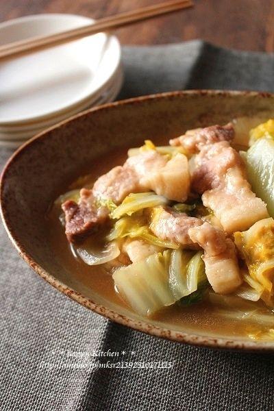 煮るだけ簡単!白菜と豚バラ肉のトロッと煮 by たっきーママ(奥田和美 ...