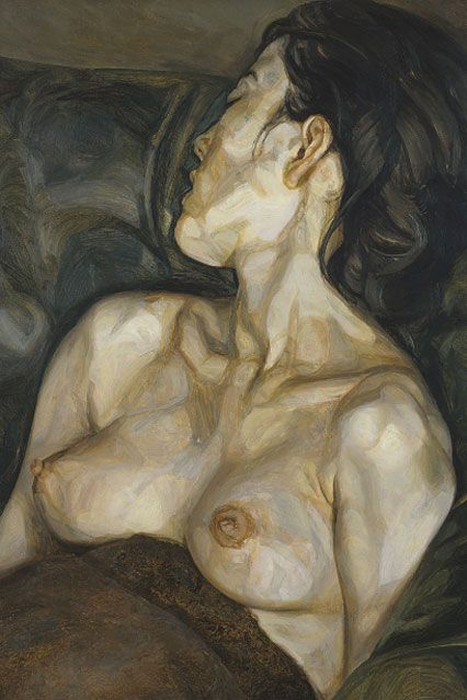 Pregnant Girl, 1960-61, as   Actual Painting of Lucien Freud's Wife while pregnant with daughter Bella.