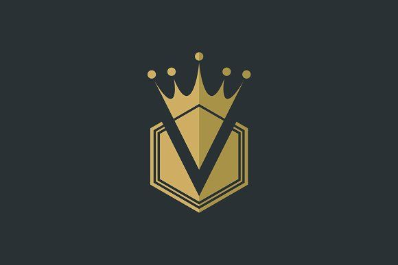 V Royal Crown Logo V Logo Design Crown Logo Best Logo Design