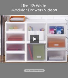 Our innovative Like-it® Modular Drawers are engineered to be stacked together in virtually any combination! Watch the video to see how!