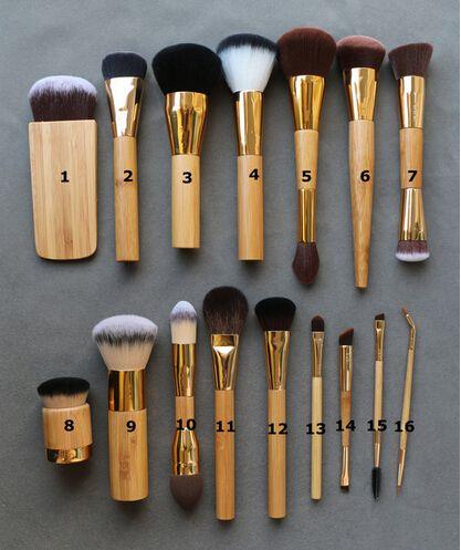 Beginner up kwasten merk tart cosmetica blending blush poeder stichting contour wenkbrauw eyeliner kabuki make up borstel