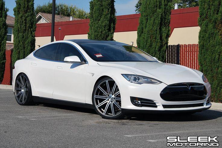 """Tesla Model S with 22"""" CV4 wheels! Fancy cars, Dream"""