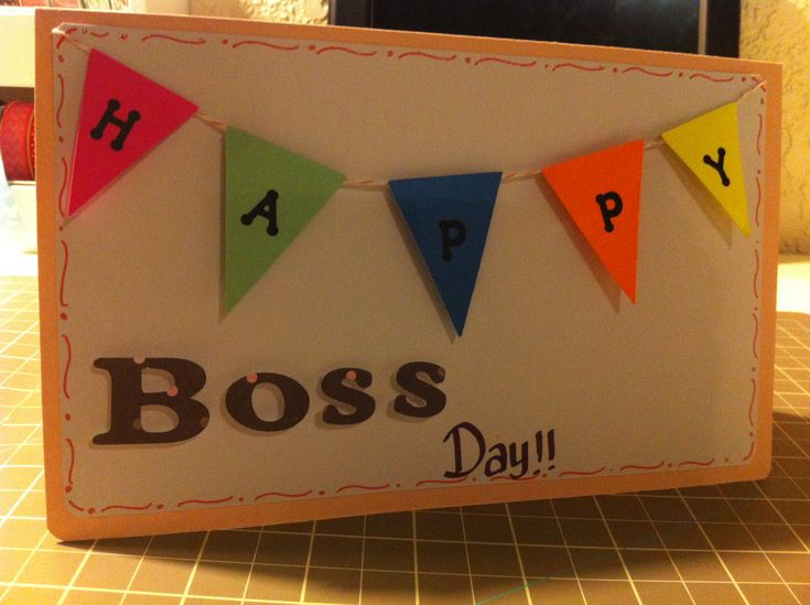 Boss day card!!