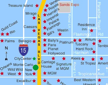 Monte Carlo Hotel Las Vegas Hotel Map Las Vegas Hotels