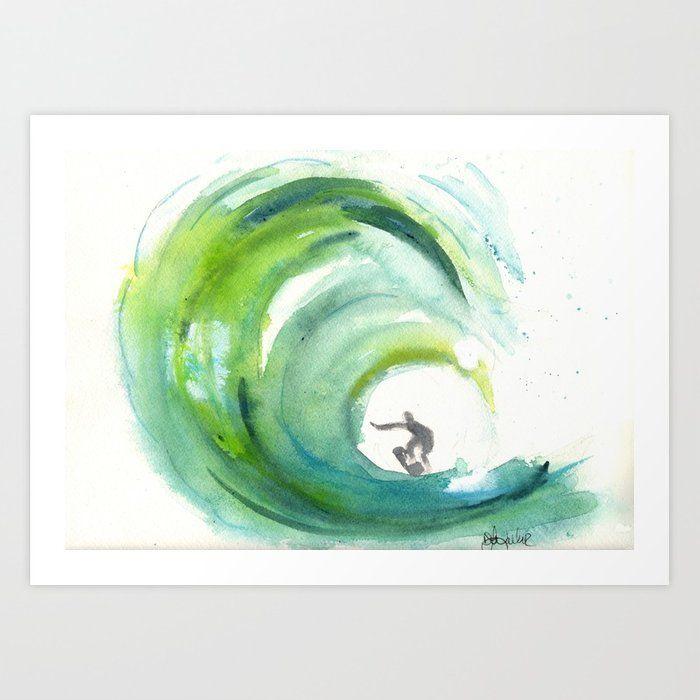 The Big One Surf Art Surfer Art Art