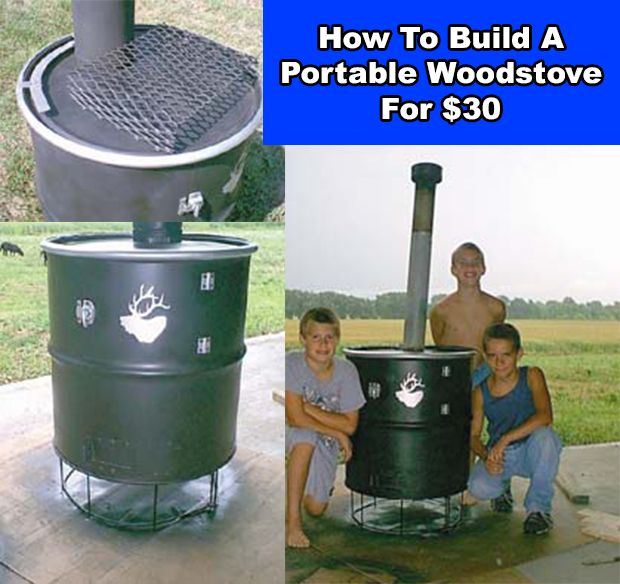 How To Build A Portable Wood stove For $30 Read HERE --- > http://www.livinggreenandfrugally.com/build-portable-woodstove-30/