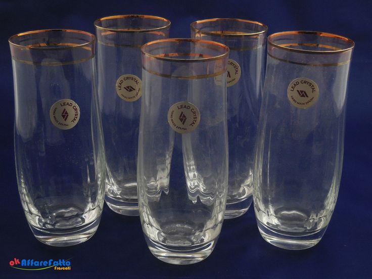 H 780 LOTTO DI 5 BICCHIERI LEAD CRYSTAL CON IL 24% DI VETRO AL PIOMBO - http://www.okaffarefattofrascati.com/?product=h-780-lotto-di-5-bicchieri-lead-crystal-con-il-24-di-vetro-al-piombo