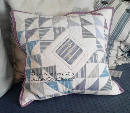 Scrappy cushion made from 4 Ocean Waves blocks #pillow #cushion #patchwork #quilting