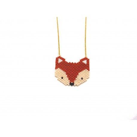 Le projet idéal pour apprendre la méthode de tissage Peyote en réalisant la tête d'un renard roux mat