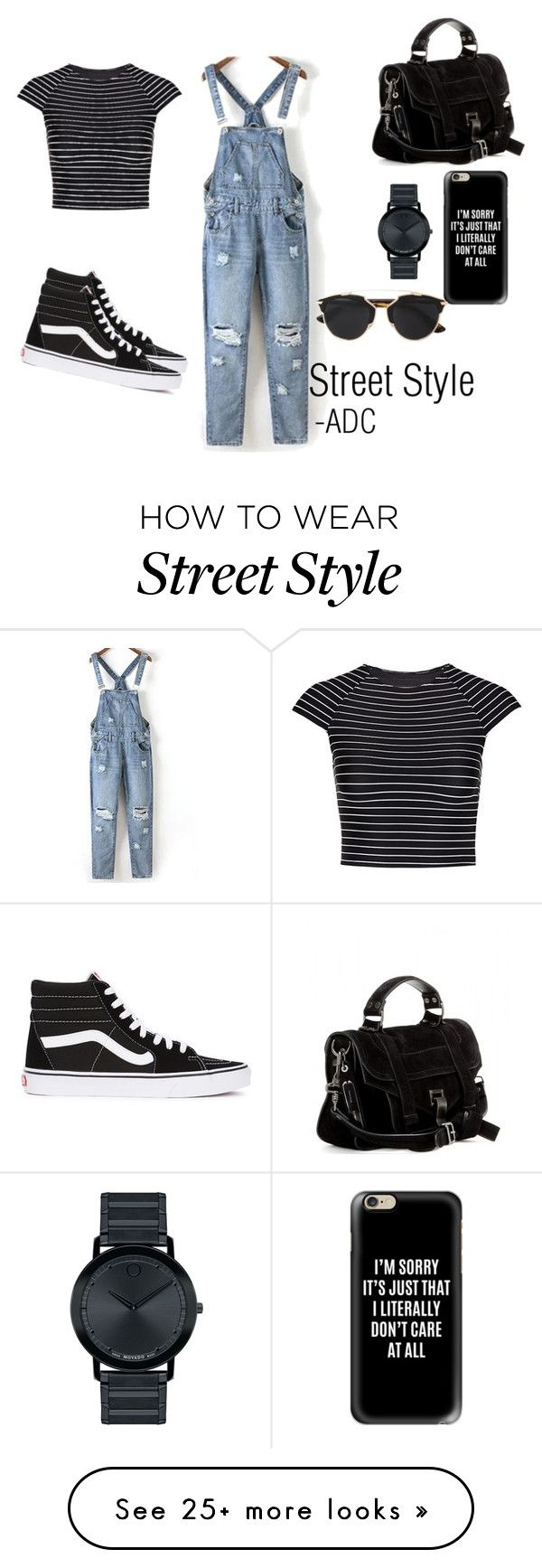 """""""Street Style"""" by anatiller on Polyvore featuring Vans, Proenza Schouler, Casetify, Movado, Christian Dior and Vitamin A"""