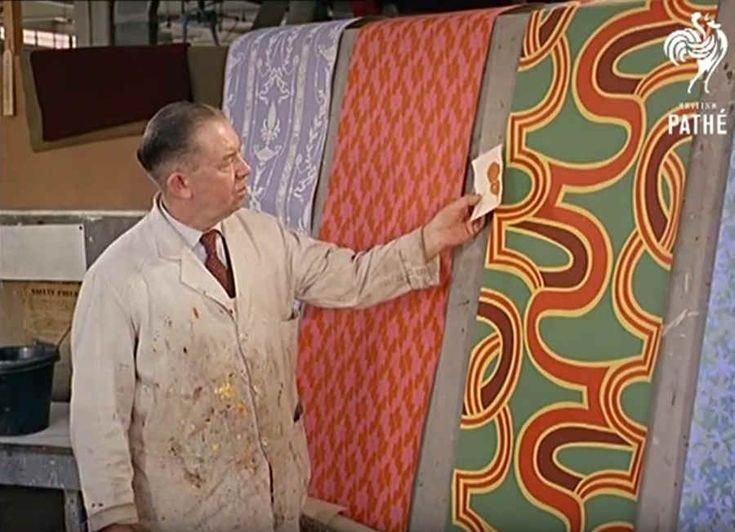 Así se hacía el papel tapiz para pared en los años sesentas