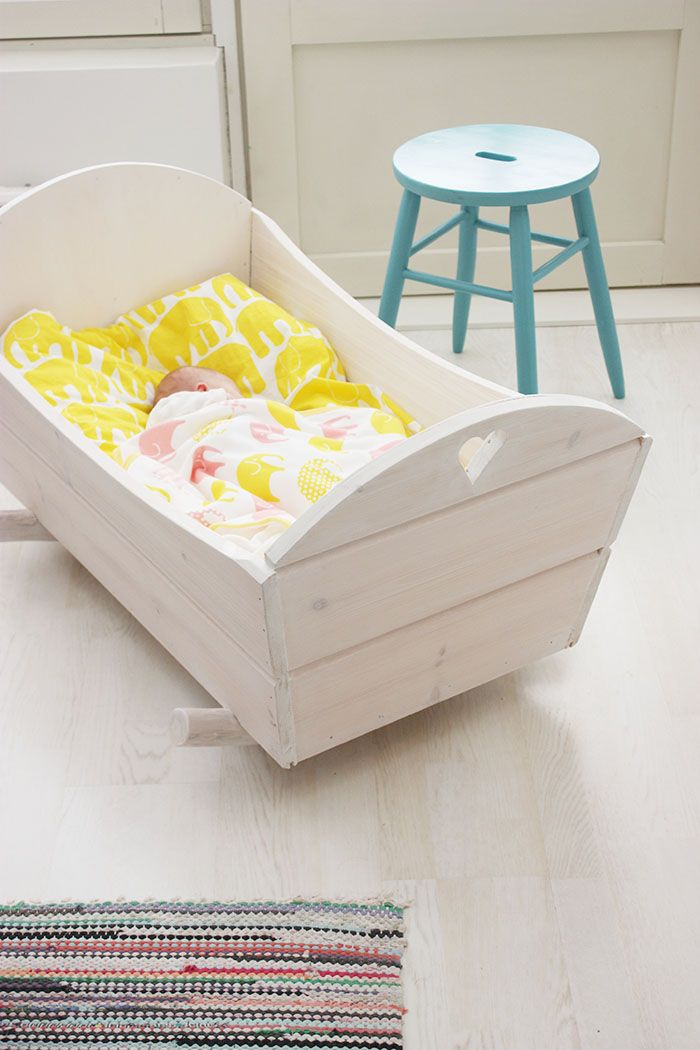 Beautiful handmade wooden cradle would be beautiful if the baby's  daddy or grandfather was to make it very special I'd love that for my children