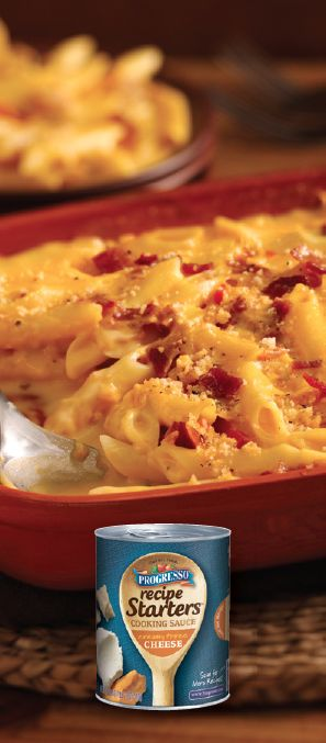 Easy Bacon Mac 'n Cheese | Progresso Recipe Starters Recipe. A yummy twist on a classic dish!