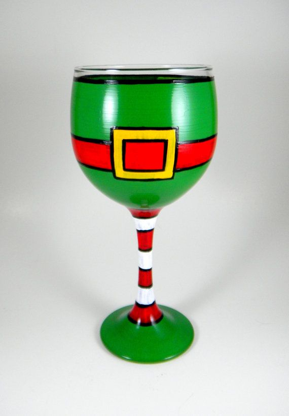 Check out this ELF glass! Hand Painted gifts by The Tattooed Butterfly